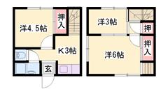 メゾネットタイプでこの家賃!商業施設も近くにあり便利です♪ A-5の間取