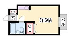 敷礼0&0!!ペットOK☆エレベーター付き☆都市ガスと同じ金額のLPガス♪ 404の間取