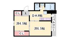 敷金礼金0円!フルリノベーション物件♪お風呂・トイレ・キッチン・エアコン新品! 507の間取