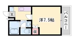 ペット飼育可能物件!!野里駅徒歩3分!!ナイスな立地です☆ 205の間取