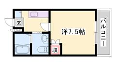 ペット飼育可能物件!!野里駅徒歩3分!!ナイスな立地です☆ 207の間取