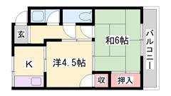 加古川駅徒歩9分!!駐車場完備☆この立地でこの家賃は魅力的です♪♪ 2-3の間取