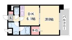 八代本町停まで徒歩2分!姫路駅まで車で10分!設備充実の築浅RCマンション! 303の間取