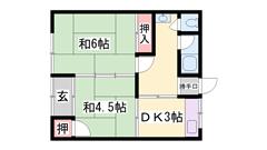 JR網干駅まで徒歩圏内でこのお家賃です!近くにコンビニもあります! N-Wの間取