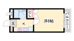 オール電化で月々の光熱費を抑えられます☆☆エアコン1台完備☆ 301の間取