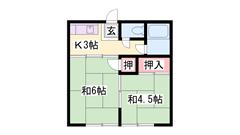 JR山陽本線「東加古川駅」まで徒歩6分の立地!日当り良好です♪ 102の間取