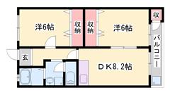 御着駅徒歩圏内 収納スペース多数 バス・トイレ別! 301の間取