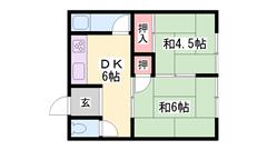 JR宝殿駅徒歩圏内☆駐車場敷地内完備☆ 208の間取