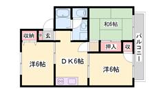 相生駅まで徒歩圏内!NTT光導入済!エアコン・広々収納スペース完備 C203の間取