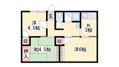 JR山陽本線「御着駅」まで徒歩8分の立地です!閑静な住宅街♪ 1の間取