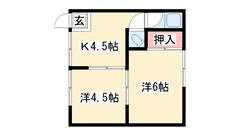 エアコン・ガスコンロ・TVモニター完備!JR赤穂線「播州赤穂駅」まで徒歩圏内! 1の間取