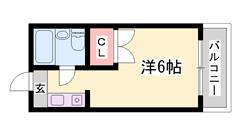 敷礼0&0!!都市ガスで経済的☆東加古川駅徒歩5分☆お手頃家賃♪ 4Jの間取