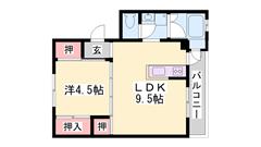 お手頃家賃の1LDKタイプ☆家賃アップで設備追加可能!! 2-304の間取