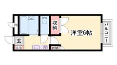 敷金・礼金0円物件 日当りが良く静かな住宅街 短期契約もご相談可能☆ 107の間取