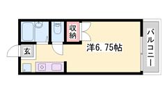敷金・礼金0&0円、エアコン付き、バス・トイレ別、駐車場空きあり。 204の間取